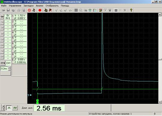 PlugIn Временные параметры - режим Длительность импульса